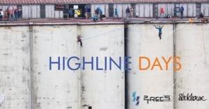 Highline nabetonowych silosach podczas Highline Days wWarszawie